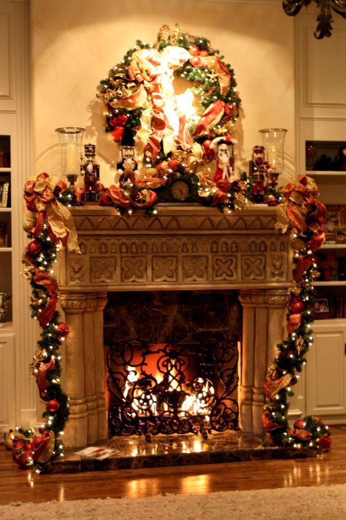 Christmas Fireplace Household Decoration